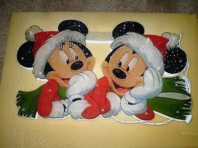 Disney Mickey MINI MOUSE Lighted Sculpture Window Display Christmas Hoilday