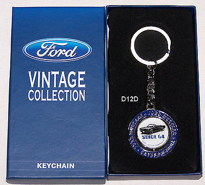Ford Vintage Collection Mustang Metal Key Ring New Keyring