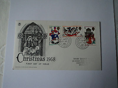1st day cover: Christmas 1968