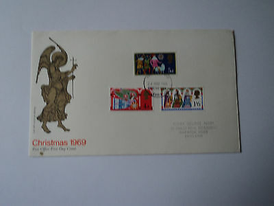 1st day cover: Christmas 1969