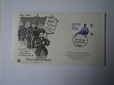 1st day cover:  50th anniversary of Suffragette Movement