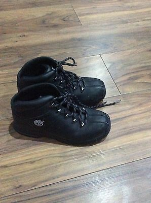 boys timberland boots size 3 black