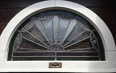 Small stained glass transom window