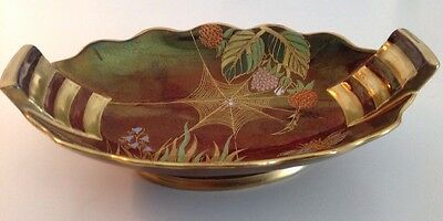 Carlton Ware Rouge Royale Spider Web Dish Original Made in England Art Deco