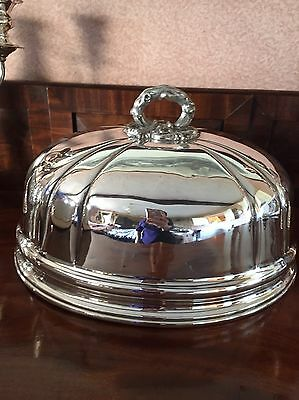 Antique Silver Plated Meat Dome Cloche Food Cover W W Harrison Sheffield Rococo