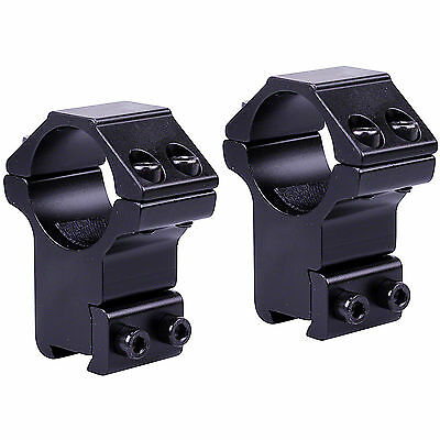 """Richter Optik 2 Piece Mount 1"""" Tube High 11mm 3/8 Dovetail Air Rifle Scope Clamp"""
