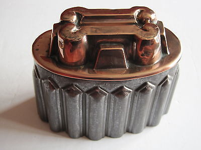 Antique Victorian tin & copper top jelly mould with tinned interior