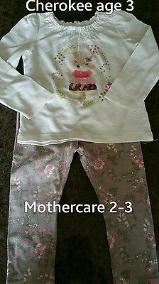 Girls outfit 2-3 years leggings and hedgehog top ivory and beige multi exc cond