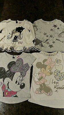 4 tops 18-24m inc Minnie Mouse and stars top with matching tights
