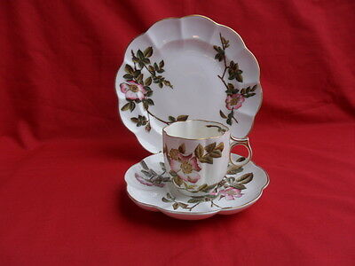 George Jones, antique BRIAR, Coffee Trio (Cup, Saucer & Plate)