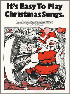 It's Easy to Play Christmas Songs Piano Sheet Music Book