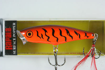 Rapala Skitter Pop // SP07OCW // Orange Tiger 7cm 7g Fishing Lure