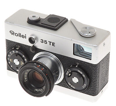 Rollei 35TE 35 TE chrome with 40/3.5 Tessar exc+ sold as is
