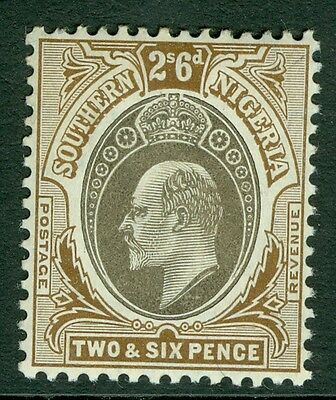 SG 29 Southern Nigeria 2/6 Grey black & Brown very lightly mounted mint CAT £24