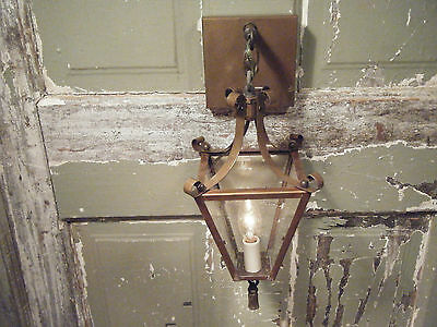Vintage Brass Light Fixture Sconce Candle Lantern Antique Patina 17 18th century • CAD $152.42