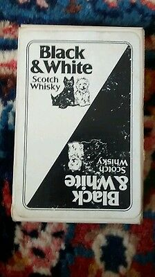 Black & white scotch whisky playing cards