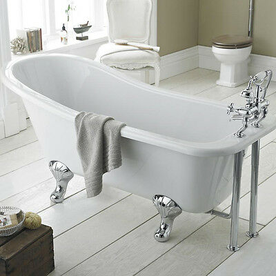 Kensington 1500mm Freestanding Traditional Roll Top Slipper Bath & Leg Set
