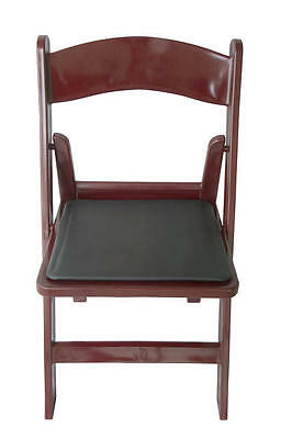 4 Commercial Resin Folding Chairs Mahogany Color Chair Padded Seat SALE!