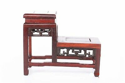 Rosewood Display pedestal stand shelf for vase bottle teapot statue etc small 01