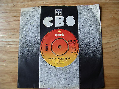 """MERLIN Let Me Put My Spell On You 1974 UK 7"""" RARE GLAM ROCK"""