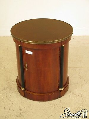 40576: BAKER Round Cylinder One Door French Empire Occasional Table