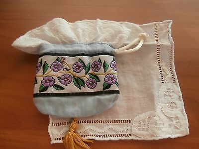 American Girl Nellie Nellie's Meet Purse and hankie
