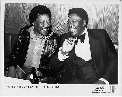 "Orig 8x10 promo photo of blues legends BOBBY ""BLUE"" BLAND and B.B. KING, 1970s"