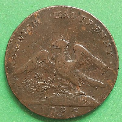1793 - Success to the City of Norwich halfpenny token - SNo41280