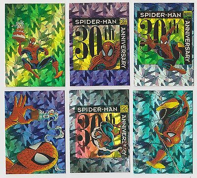 """spider-Man Ii 30Th Anniversary"" Complete 6 Prism Chase Card Set P7-P12"