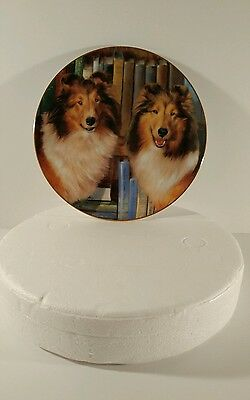 Edward Aldrich Collies Bookends Collector Plate