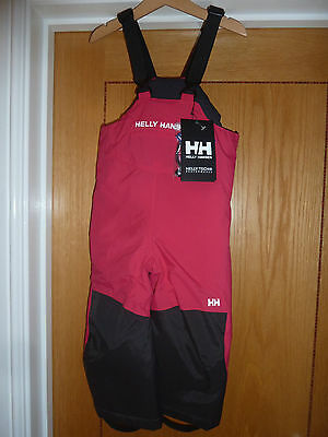 Helly Hansen kids winter trousers with braces Brand New with tags