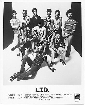 Original 8x10 promo photo of long-running R&B/funk band L.T.D., mid 1970s