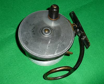 "Vintage Malloch Of Perth 4"" Alloy & Brass Sidecaster Reel"