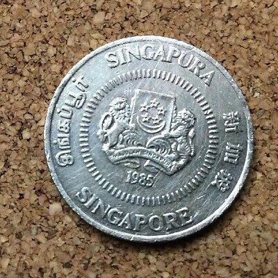 1985 Singapore 50 Cent Coin