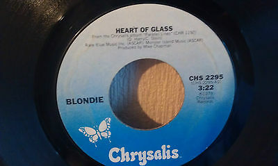 """Blondie Heart Of Glass 7"""" Record For Sale"""