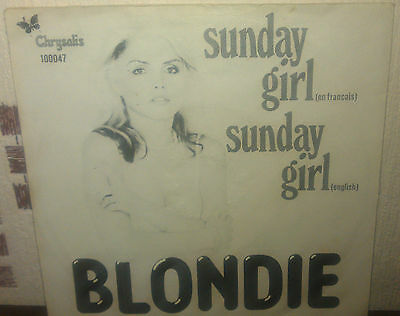 """Blondie Sunday Girl 7"""" Record (Made In Holland) For Sale"""