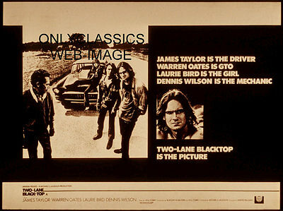 Two Lane Blacktop Lobby Poster Chevy Hot Rod James Taylor Dennis Wilson Oates 01