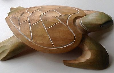 Wooden Hand Carved Turtle.