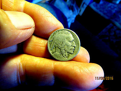Scarce 1914-S Buffalo Nickle In Very Good + Condition