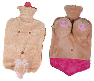 Willy or Boobs Hot Water Bottle Novelty Hen Stag Party Birthday Fun Gift