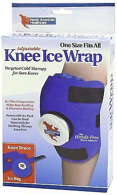 Adjustable Knee Wrap with Ice Bag Cold Therapy Compression Sore Swelling Swollen