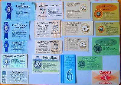 Vintage British Cigarette Coupons x 18  All Different;Tobacco Voucher Collector
