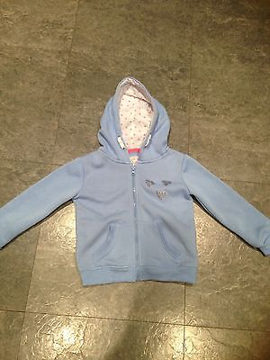 Young Dimensions Baby Blue Hoodie With Glittery Heart Detail Age 5-6 Years