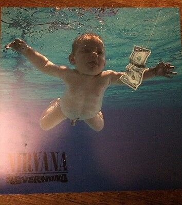 Vtg Nirvana Nevermind Record Store 2 Sided Promo Poster