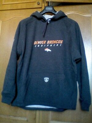 Nfl Reebok Equipment Sweat-Shirt Capuche Denver Broncos Adulte Neuf