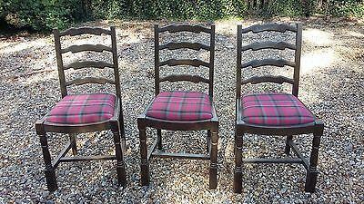 Set of 3 oak antique dining chairs