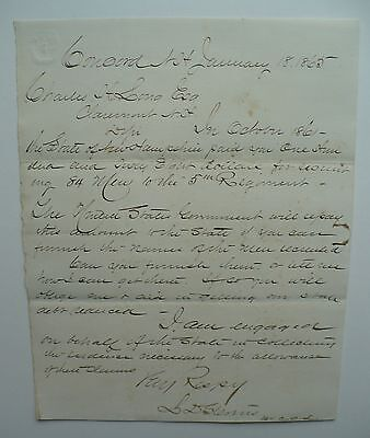 Civil War Recruitment Letter Charles Long Concord, New Hampshire