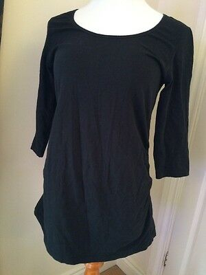 Blooming Marvellous Size M MATERNITY Ladies Black 3/4 Length Sleeved Top
