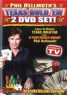 NEW Phil Hellmuth's Texas Hold 'EM (Masters of Poker) Deluxe Edition (DVD)
