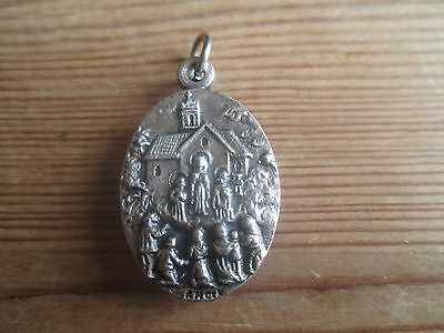Rare Our Lady of Knock Pendant with Holy Water Capsule, Irish Catholic Medal